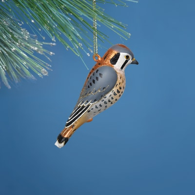 Kestrel Glass Ornament