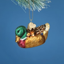 Mallard Glass Ornament
