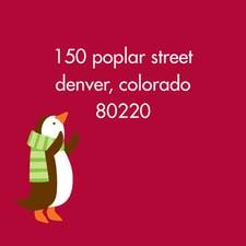 Playful Penguins Address Label Sheet