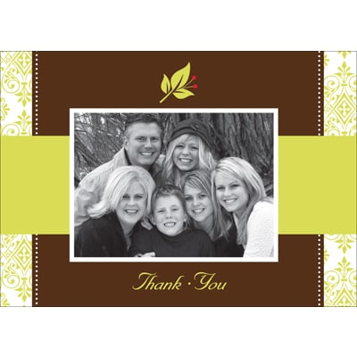 Touch of Holly Photo Thank You Card