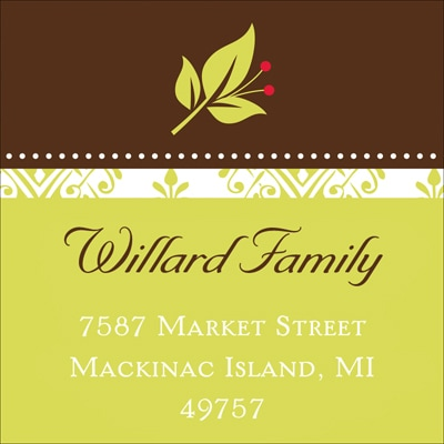 Touch of Holly Address Label Sheet