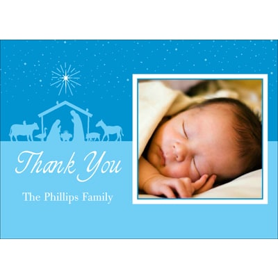 Bright Blessing Photo Thank You Card