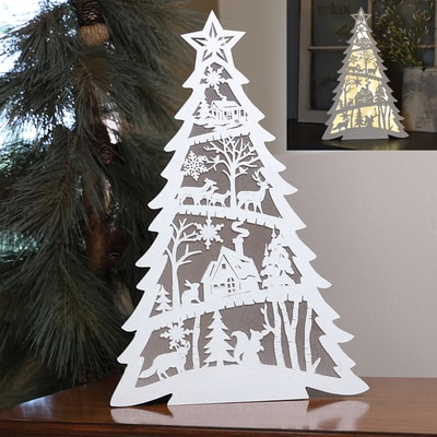 Laser Cut Light-Up Tree