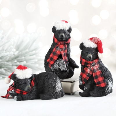 Bear Figurine Set