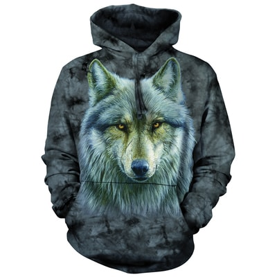 Warrior Wolf Hooded Pullover