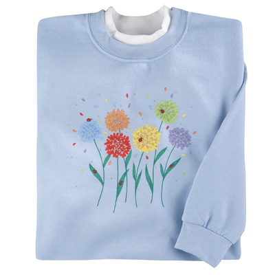 Colorful Mums Pullover