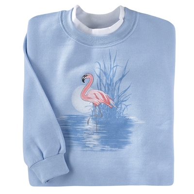 Moonlight Flamingo Pullover