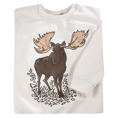 Woodland Moose Pullover