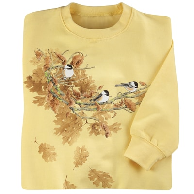 Oak Leaf Chickadees Pullover