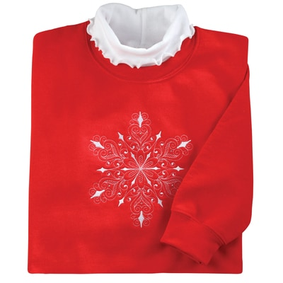 Snowflake Symphony Pullover