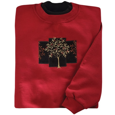 Velvet Winter Tree Pullover