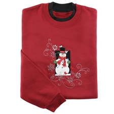 Snowman and Friends Pullover