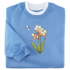 Daffodils and Bee Pullover