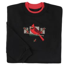 Cardinal and Berry Patches Pullover