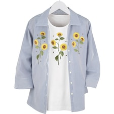 Sunflower Shirt Set