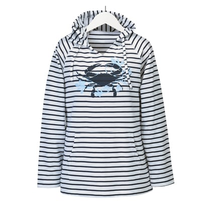 Blue Crab Hooded Shirt
