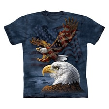 Eagle Flag Collage Tee