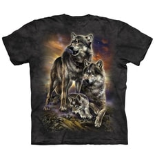 Wolf Family Sunrise Tee