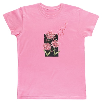 Pink Blowing Puffs Tee