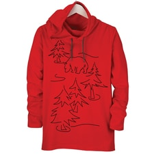 Bear Tree Hooded Tee
