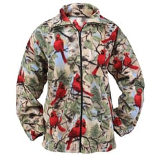 Cardinal and Birch Fleece Jacket