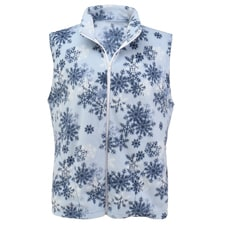 Snowflake Fleece Vest