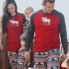 Moose Fair Isle Adult Pajama Set