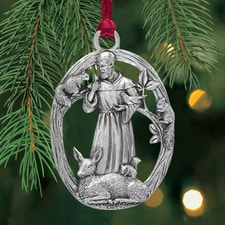 St Francis Plant a Tree Ornament