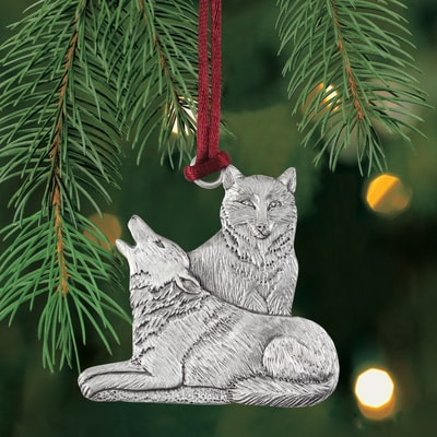 Wolves Plant a Tree Ornament
