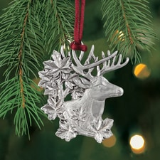 White Tail Deer Plant a Tree Ornament