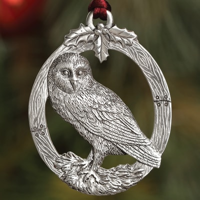 Owl Plant a Tree Ornament