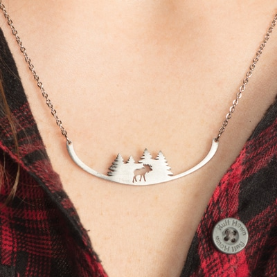 Moose Trees for Wildlife Necklace