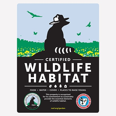 Arkansas Wildlife Federation Certified Wildlife Habitat Sign