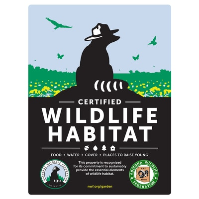 Arizona Wildlife Federation Certified Wildlife Habitat Sign