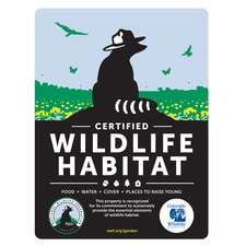 Colorado Wildlife Federation Certified Wildlife Habitat Sign