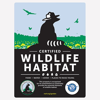 Florida Wildlife Federation Certified Wildlife Habitat Sign