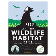 Illinois Prairie Rivers Network Certified Wildlife Habitat Sign