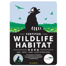 Kansas Wildlife Federation Certified Wildlife Habitat Sign