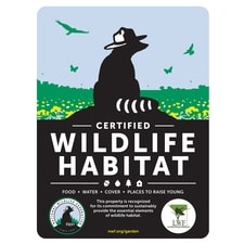 Louisiana Wildlife Federation Certified Wildlife Habitat Sign
