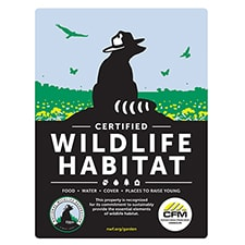 Conservation Wildlife Missouri Certified Wildlife Habitat Sign