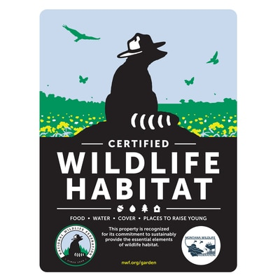 Montana Wildlife Federation Certified Wildlife Habitat Sign