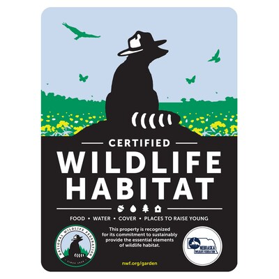 Nebraska Wildlife Federation Certified Wildlife Habitat Sign