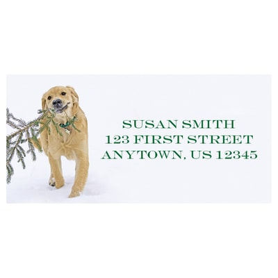 Bear's Christmas Tree Address Labels