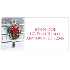 Holiday Fence Address Labels