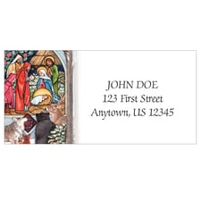 Nativity Scene with Friends Address Labels