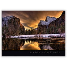 Sunrise Over Yosemite Valley Card
