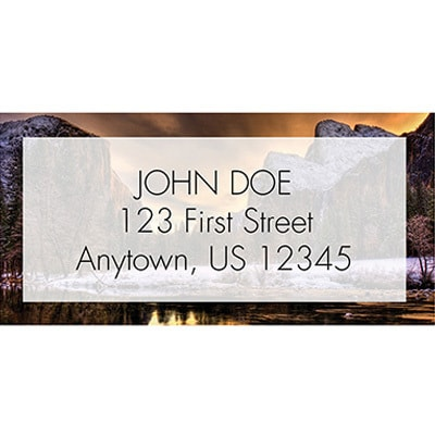 Sunrise Over Yosemite Valley Address Labels