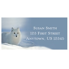Arctic Fox in Snow Address Labels