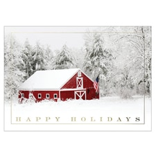 Patriotic Barn Card