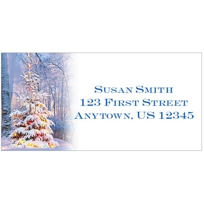 Woodland Sparkle Address Labels